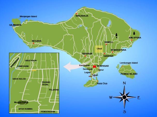 Where is Ubud, Bali