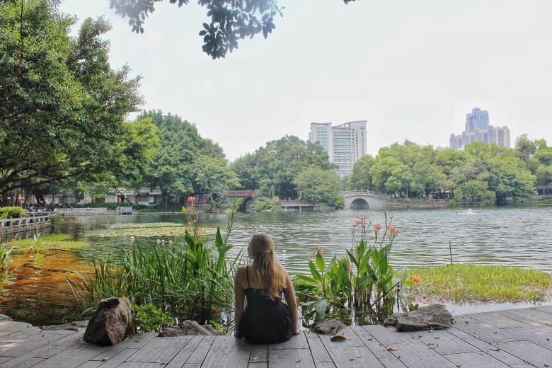 sit by lake 2