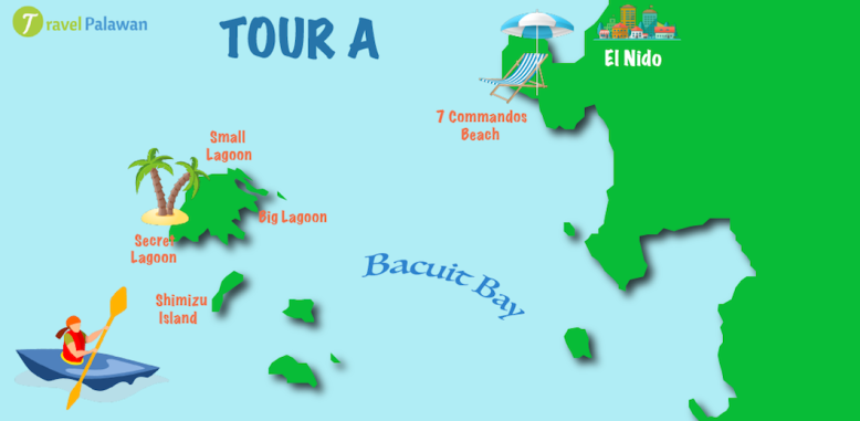 El-Nido-Tour-A-Map