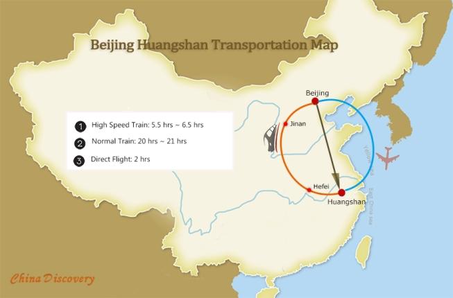 beijing to huangshan