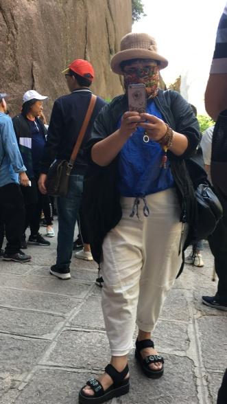 chinese people taking photo